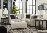 Ashley Hallenberg Fog LAF Loveseat, Armless Chair, RAF Sofa with Corner Wedge Sectional & Accent Ottoman