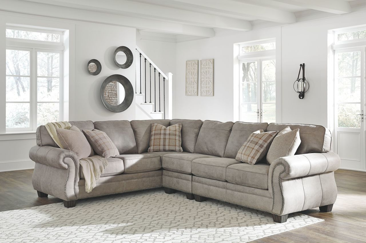 Peachy Ashley Olsberg Steel Laf Sofa With Corner Wedge Armless Chair Raf Loveseat Sectional Pdpeps Interior Chair Design Pdpepsorg
