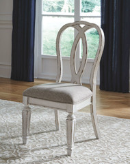 Realyn Chipped White Dining UPH Side Chair (Set of 2)