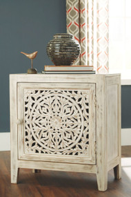 Ashley Fossil Ridge White Accent Cabinet