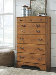 Ashley Bittersweet Light Brown Five Drawer Chest