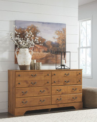 Ashley Bittersweet Light Brown Dresser