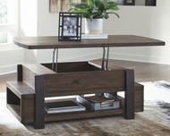 Ashley Vailbry Brown Lift Top Cocktail Table
