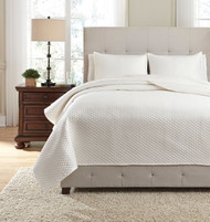 Ashley Dietrick Ivory King Quilt Set