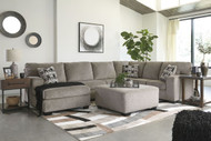 Ashley Ballinasloe Platinum LAF Corner Chaise, Armless Loveseat, RAF Sofa Sectional & Accent Ottoman