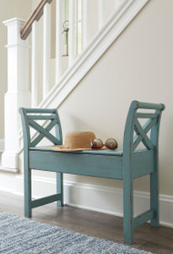 Ashley Heron Ridge Blue Accent Bench
