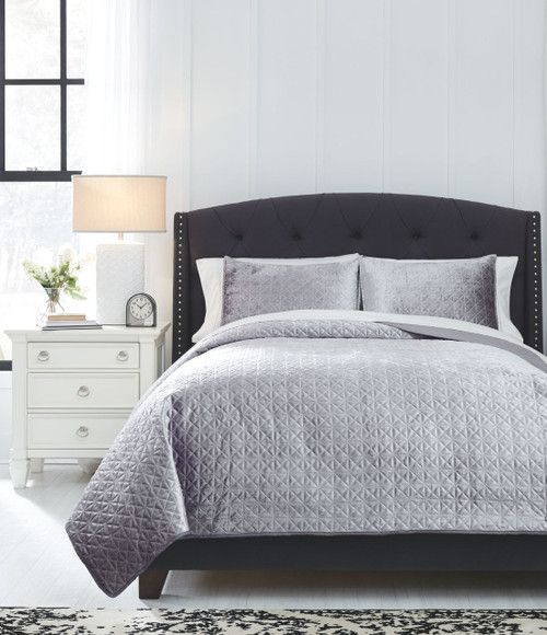 Ashley Furniture Goldsboro Nc: Ashley Maryam Gray Queen Coverlet Set On Sale At Red Shed