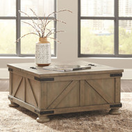 Ashley Aldwin Gray Cocktail Table with Storage