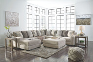 Ashley Ardsley Pewter LAF Corner Chaise, Armless Loveseat, Wedge, RAF Sofa Sectional & Accent Ottoman