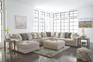 Ashley Ardsley Pewter LAF Corner Chaise, Armless Loveseat, Armless Chair, Wedge, RAF Sofa Sectional & Accent Ottoman
