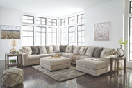 Ashley Ardsley Pewter LAF Sofa, Wedge, Armless Chair, Armless Loveseat, RAF Corner Chaise Sectional & Accent Ottoman