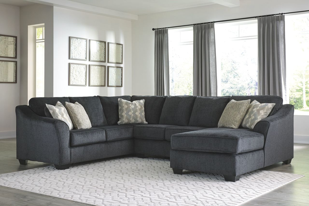 Stupendous Ashley Eltmann Slate Laf Sofa With Corner Wedge Armless Loveseat Raf Corner Chaise Sectional Unemploymentrelief Wooden Chair Designs For Living Room Unemploymentrelieforg