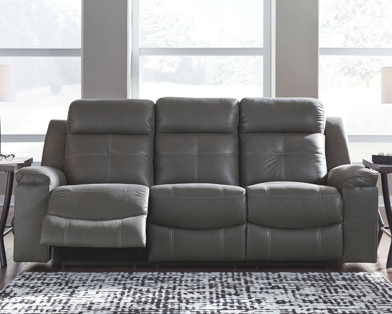 Excellent Ashley Jesolo Dark Gray Reclining Sofa Gmtry Best Dining Table And Chair Ideas Images Gmtryco