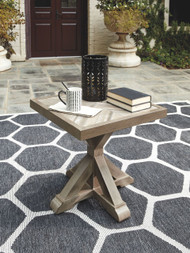 Ashley Beachcroft Beige Square End Table