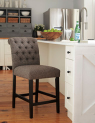 Ashley Tripton Graphite Upholstered Barstool(Set of 2)