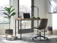 Ashley Gerdanet Light Brown Home Office Desk with Swivel Chair