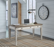 Ashley Realyn White/Brown Home Office Desk