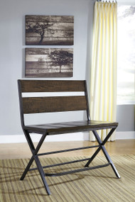 Ashley Kavara Medium Brown Double Barstool(1 Per Carton)