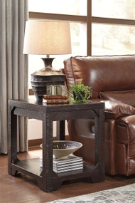 Ashley Rogness Rustic Brown Rectangular End Table