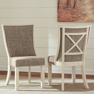 Bolanburg Two-tone Dining Upholstered Scoop Back Side Chair(Set of 2)