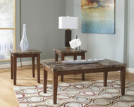Ashley Theo Warm Brown Occasional Table Set