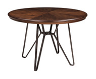 Ashley Centiar Two-tone Brown Round Dining Room Table