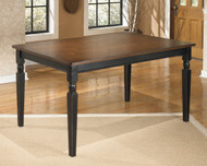 Ashley Owingsville Black/Brown Rectangular Dining Room Table
