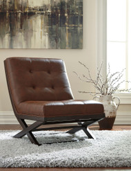 Ashley Sidewinder Brown Accent Chair