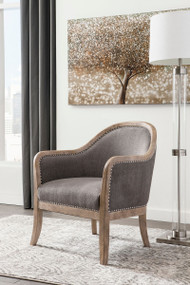 Ashley Engineer Brown Accent Chair