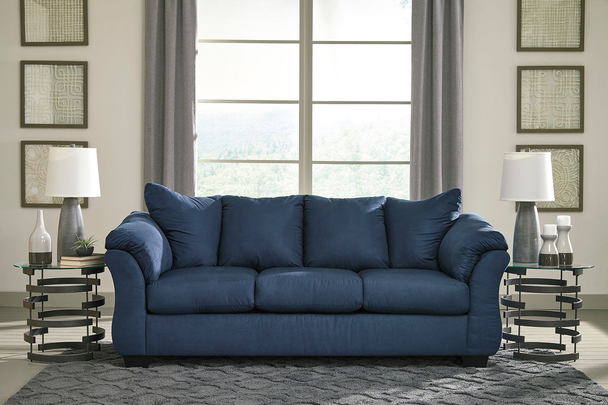 Astonishing Ashley Darcy Blue Sofa Interior Design Ideas Oxytryabchikinfo