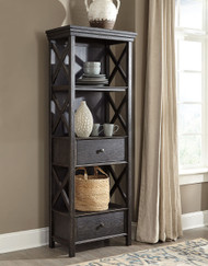 Tyler Creek Black/Gray Display Cabinet