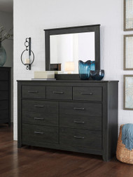 Ashley Brinxton Black Dresser & Mirror