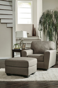 Ashley Calicho Cashmere Chair with Ottoman