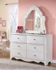 Ashley Exquisite White Dresser & French Style Mirror