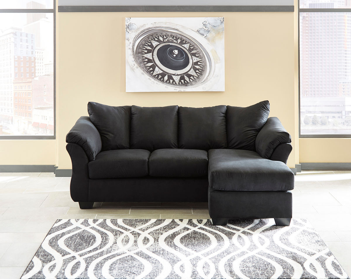 Phenomenal Ashley Darcy Black Sofa Chaise Onthecornerstone Fun Painted Chair Ideas Images Onthecornerstoneorg