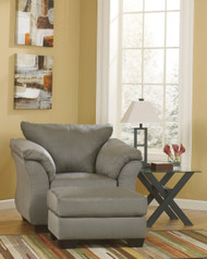 Ashley Darcy Cobblestone Chair with Ottoman