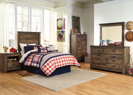 Trinell 3 Pc. Dresser, Mirror & Twin Headboard