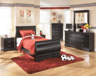 Huey Vineyard 5 Pc. Dresser, Mirror & Twin Sleigh Bed