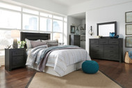 Ashley Brinxton Black 3 Pc Dresser, Mirror & Queen Headboard Bed