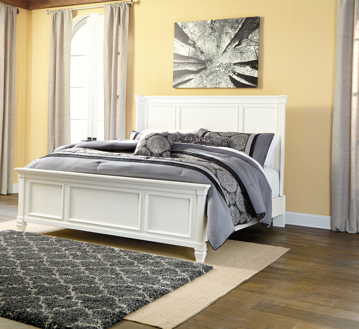 Ashley Furniture Goldsboro Nc: Ashley Prentice White King Panel Bed On Sale At Red Shed