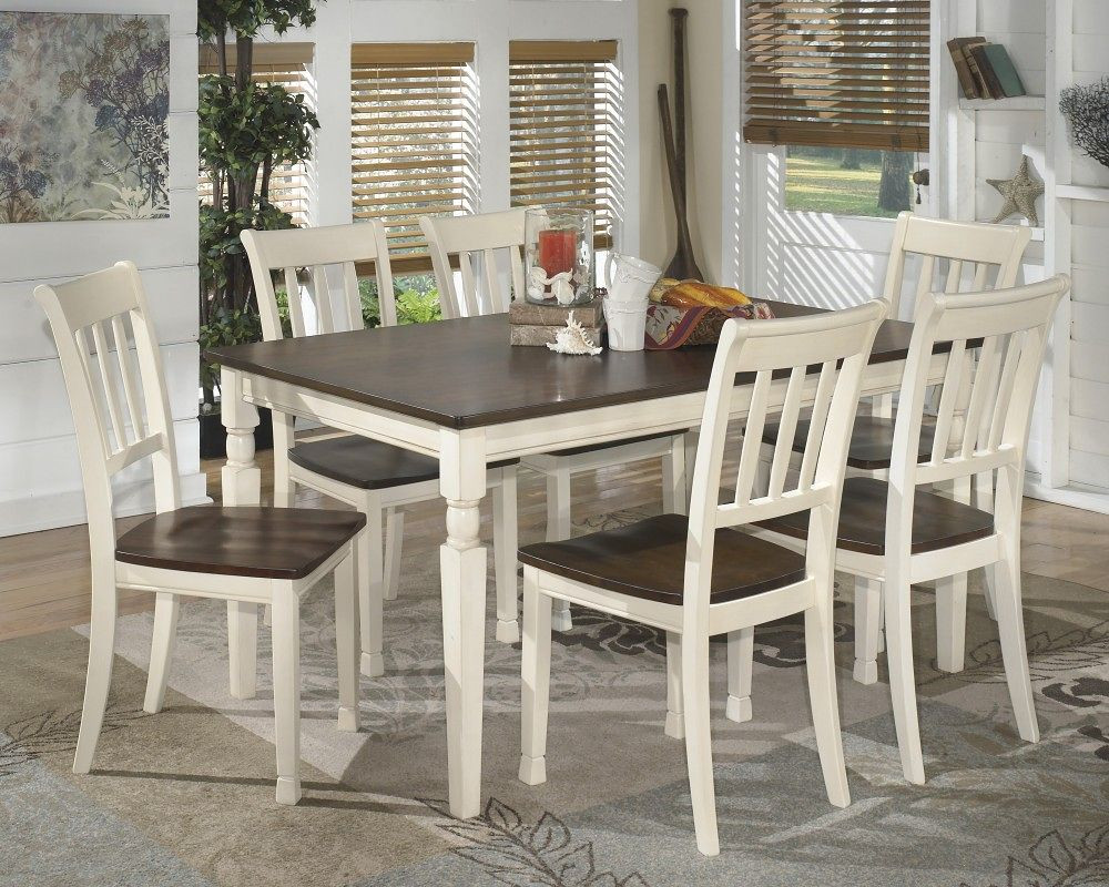 Stupendous Ashley Whitesburg 7 Pc Rectangular Dining Room Table 6 Side Chairs Machost Co Dining Chair Design Ideas Machostcouk