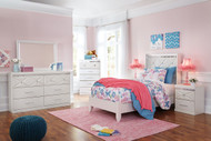 Dreamur Champagne Dresser, Mirror & Twin Panel Bed