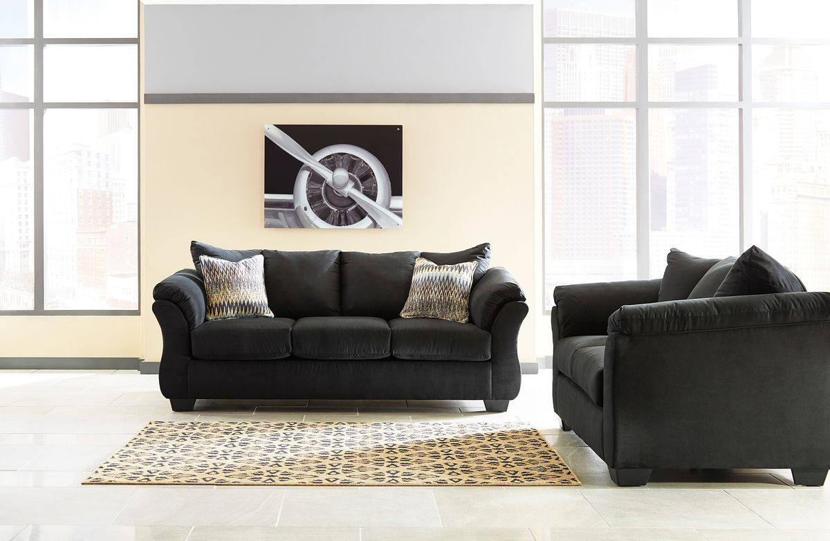 The Darcy Black Sofa Loveseat Available At Red Shed Serving