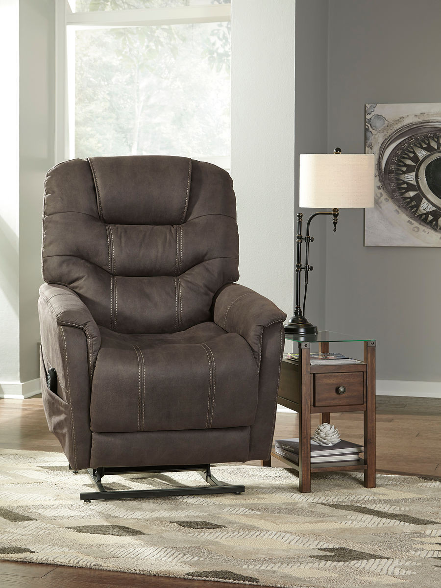 Astounding Ashley Ballister Gunmetal Power Lift Recliner Interior Design Ideas Inesswwsoteloinfo