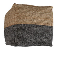 Ashley Sweed Valley Natural/Black Pouf