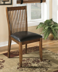 Ashley Stuman Medium Brown Dining Upholstered Side Chair(Set of 2)