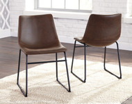 Centiar Brown/Black Dining Upholstered Side Chair(Set of 2)