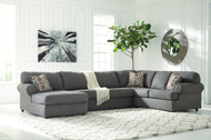 Ashley Jayceon Steel Left Arm Facing Corner Chaise, Armless Loveseat & Right Arm Facing Sofa Sectional
