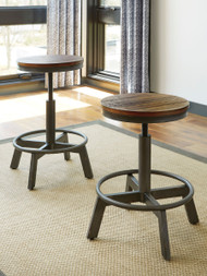 Ashley Torjin Brown/Gray Stool(Set of 2)