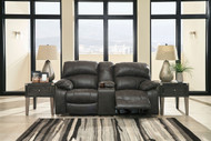 Dunwell Steel Power Reclining Loveseat/Console/Adjustable HDRST